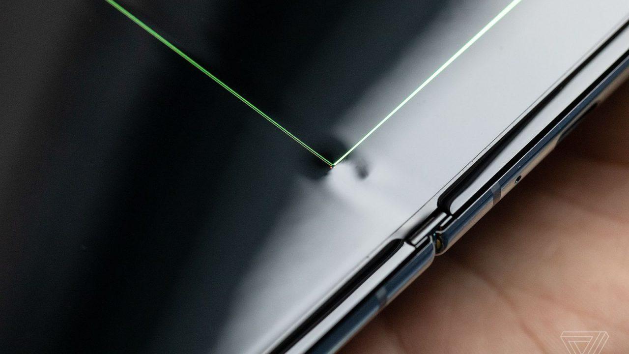 Złamany ekran Samsung Galaxy Fold