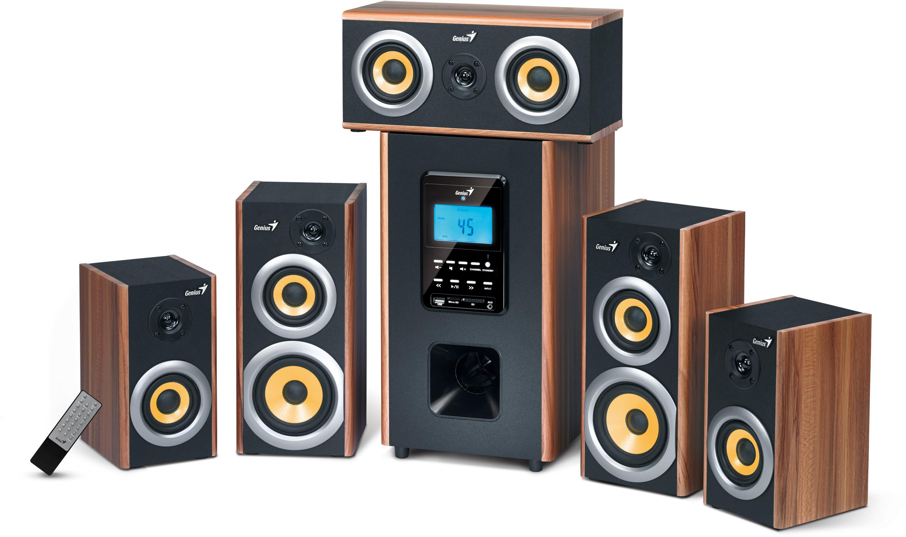 Genius SW-HF5.1 5200 - wiele głośników i dźwięk 5.1