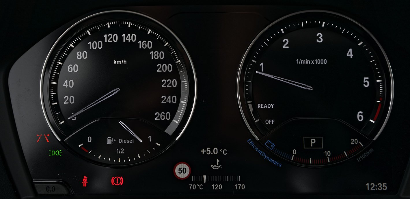 BMW konwencjonalne zegary kierowcy