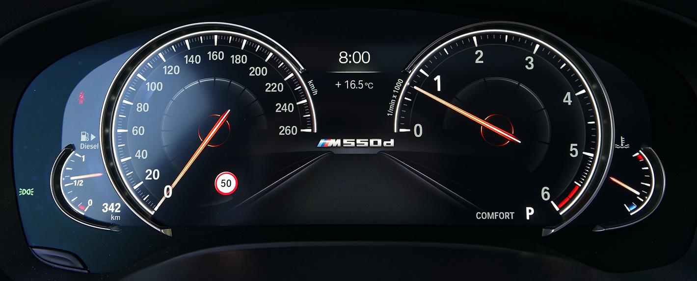 Cyfrowe zegary w BMW serii 5