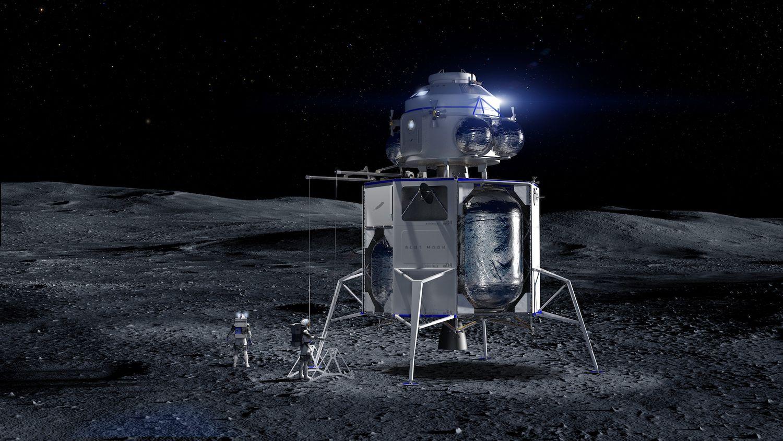 Lądownik Blue Moon na Księżycu