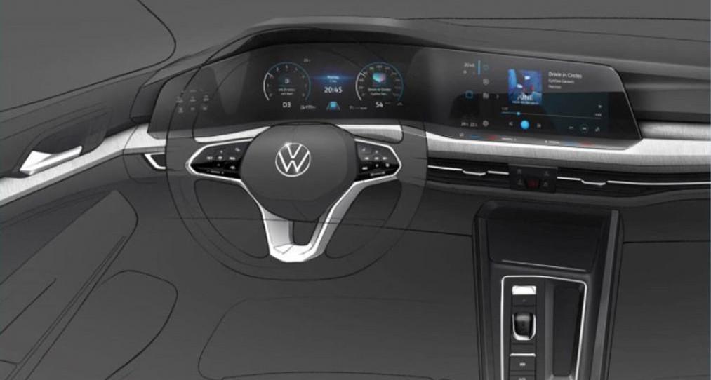 Volkswagen Golf Mk8 kokpit deska rozdzielcza