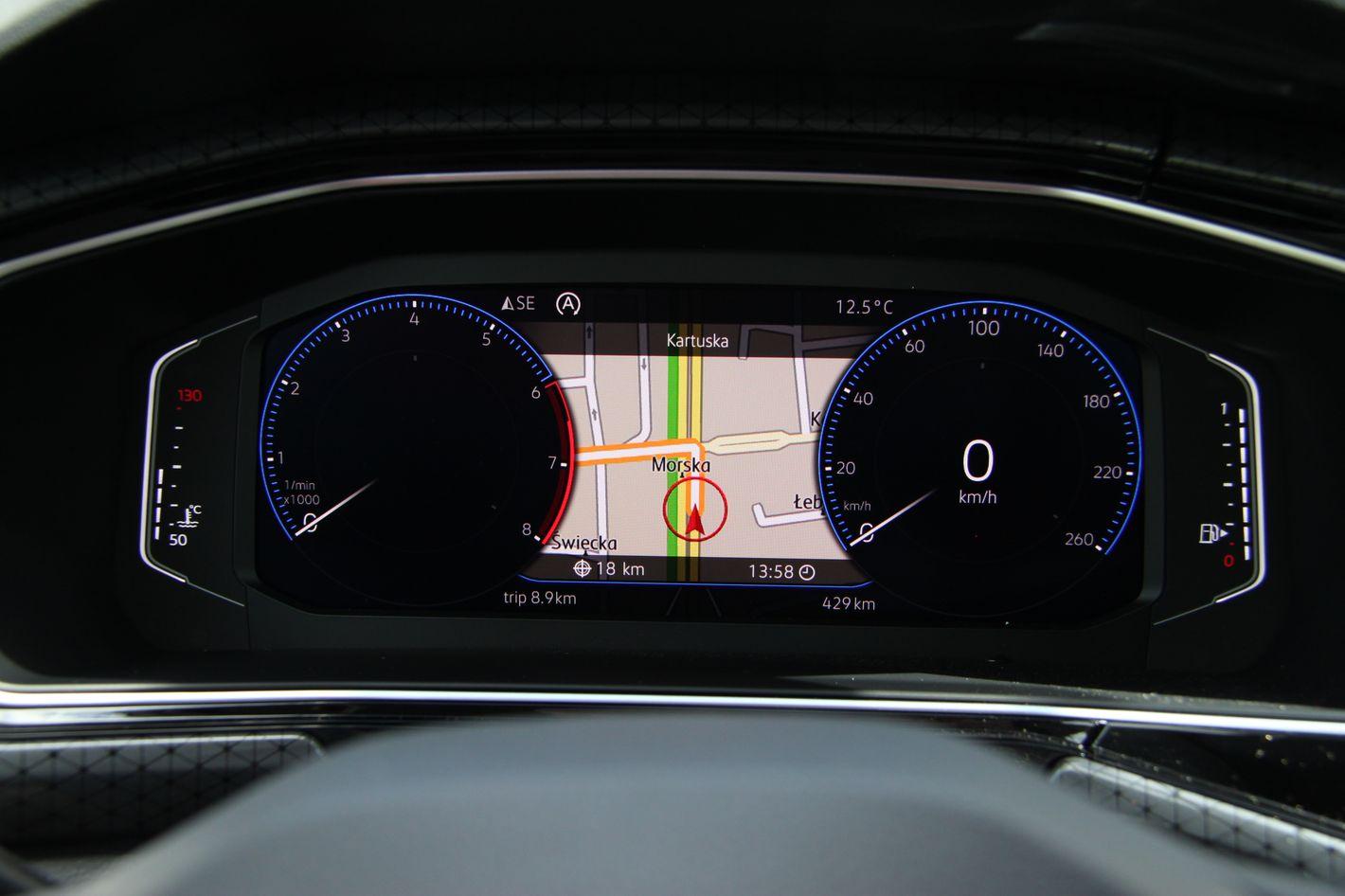 Volkswagen T-Cross wirtualny kokpit