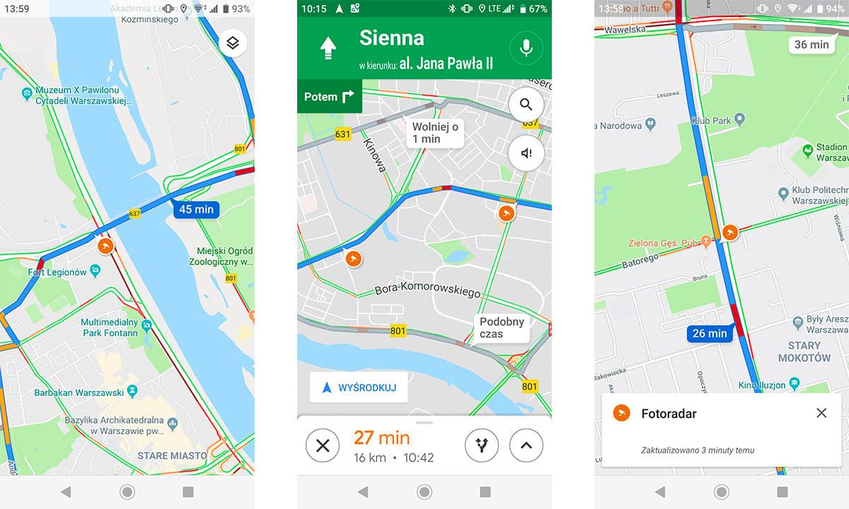 mapy google fotoradar