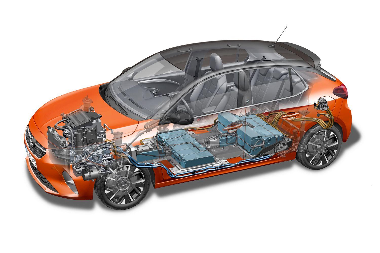 Opel Corsa-e 6. generacji schemat
