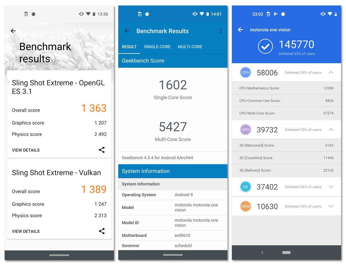 Motorola One Vision - Benchmark