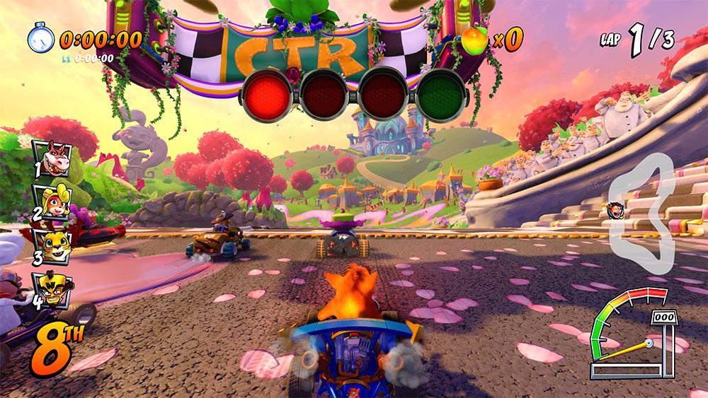 Crash Team Racing Nitro-Fueled początek wyścigu