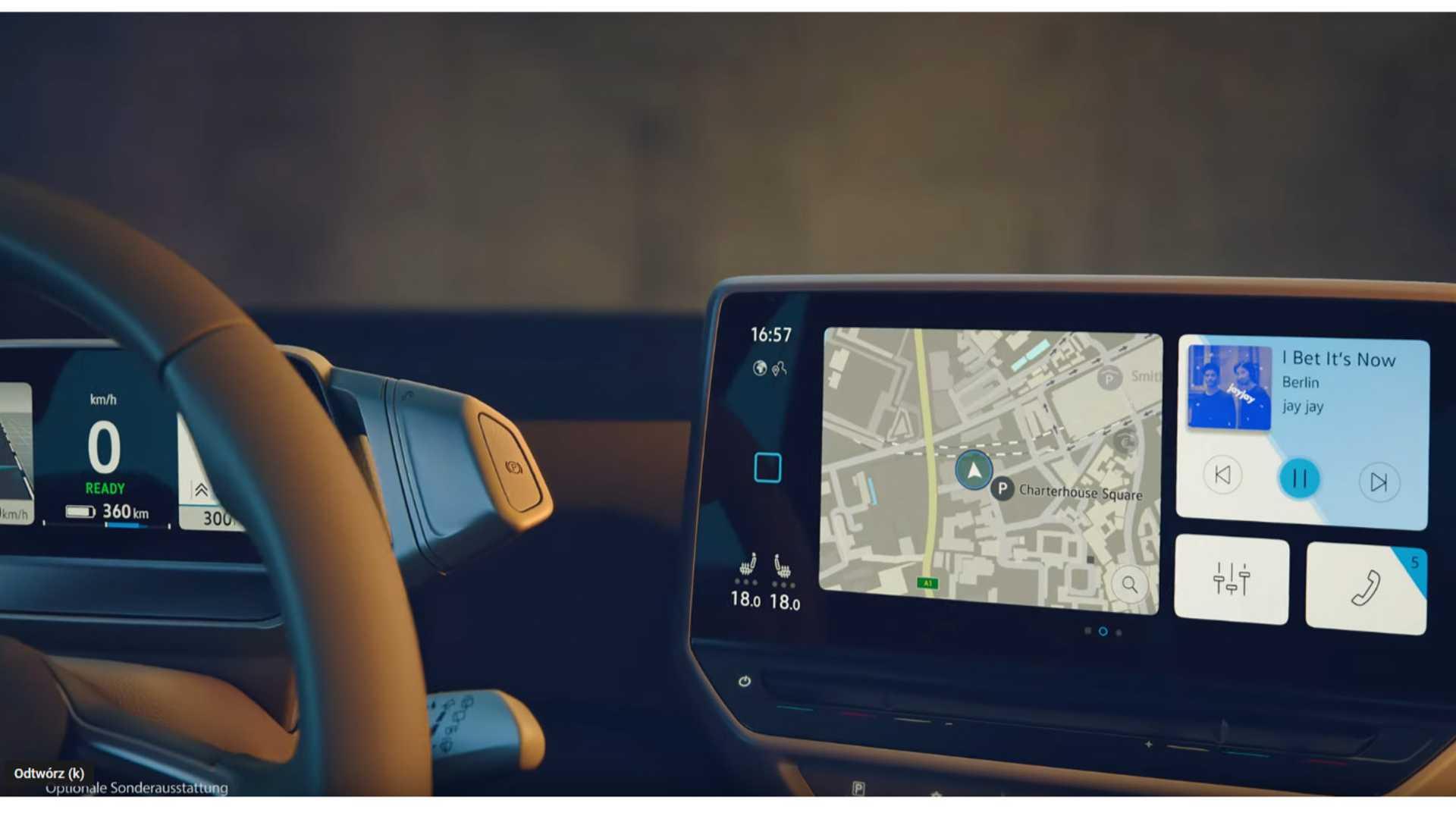 Volkswagen ID.3 kokpit i deska rozdzielcza