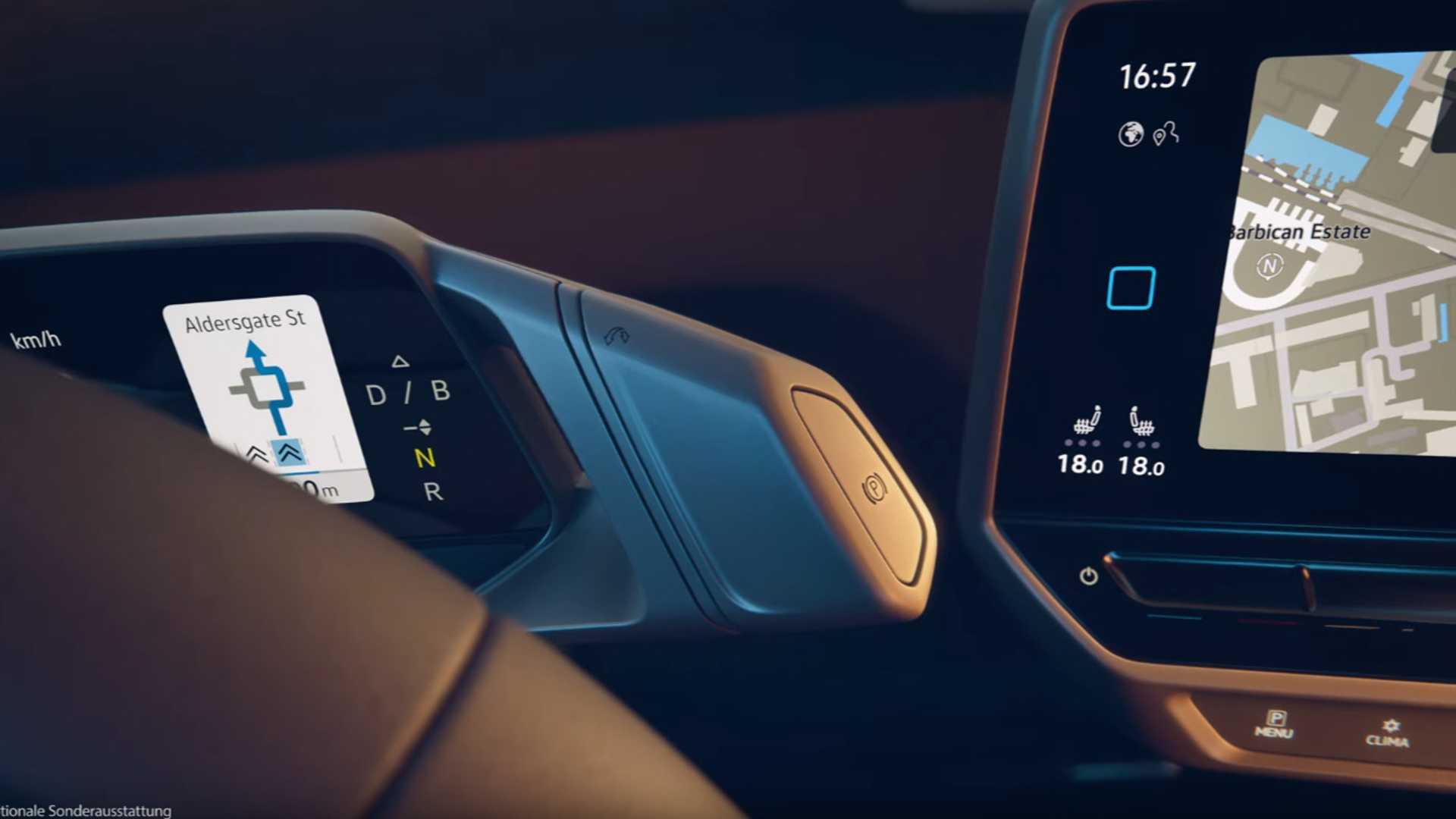 Volkswagen ID.3 dźwignia zmiany trybu jazdy