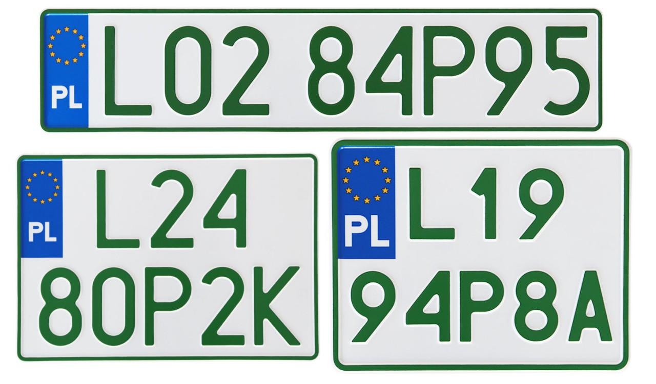 Profesjonalne tablice rejestracyjne