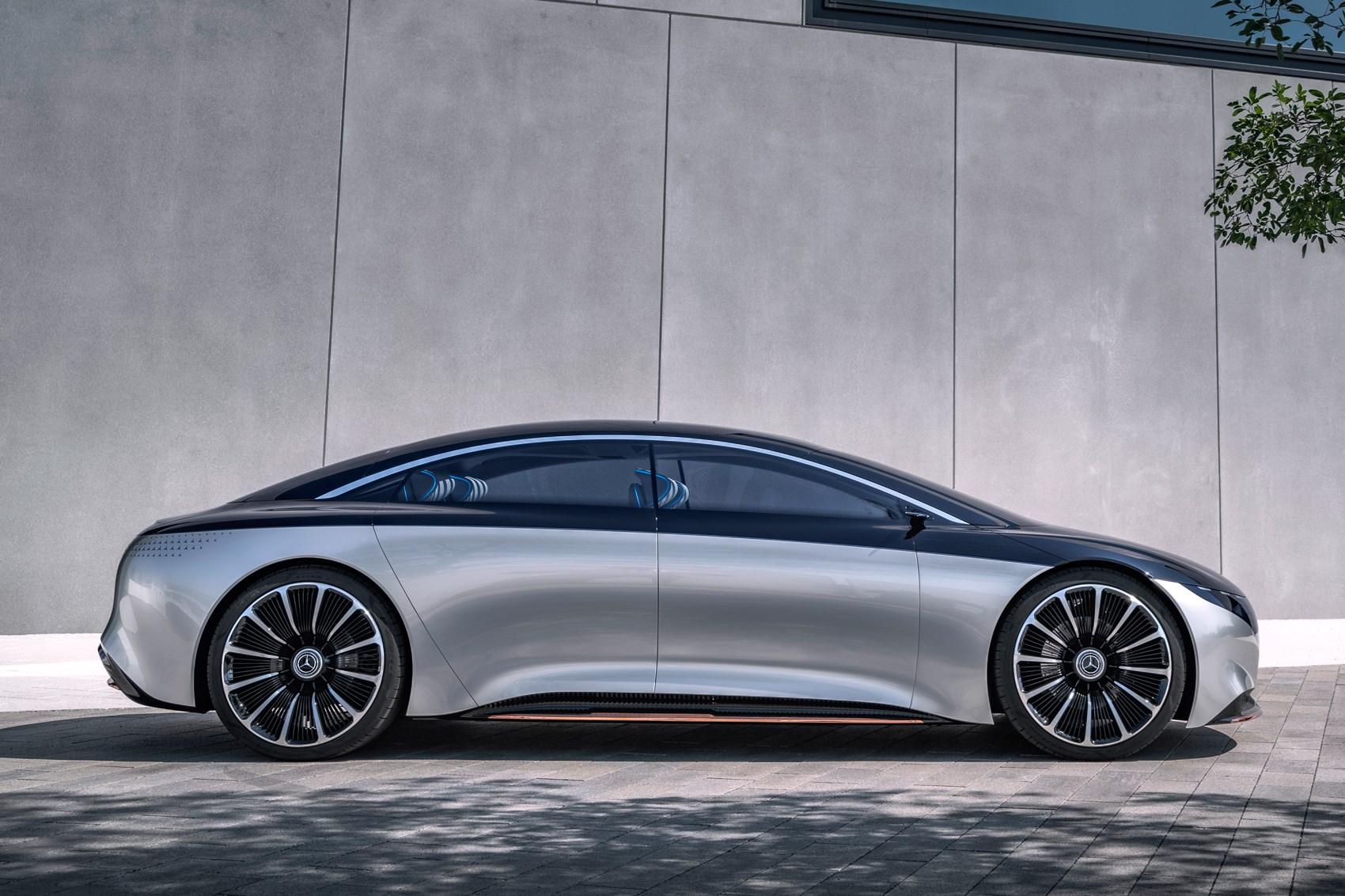 Mercedes EQS linia boczna