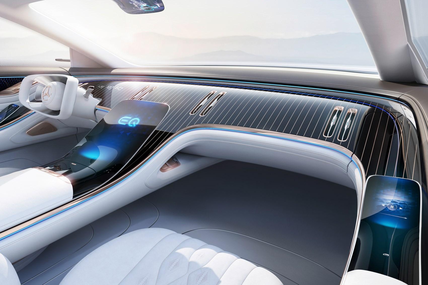 Mercedes EQS kokpit