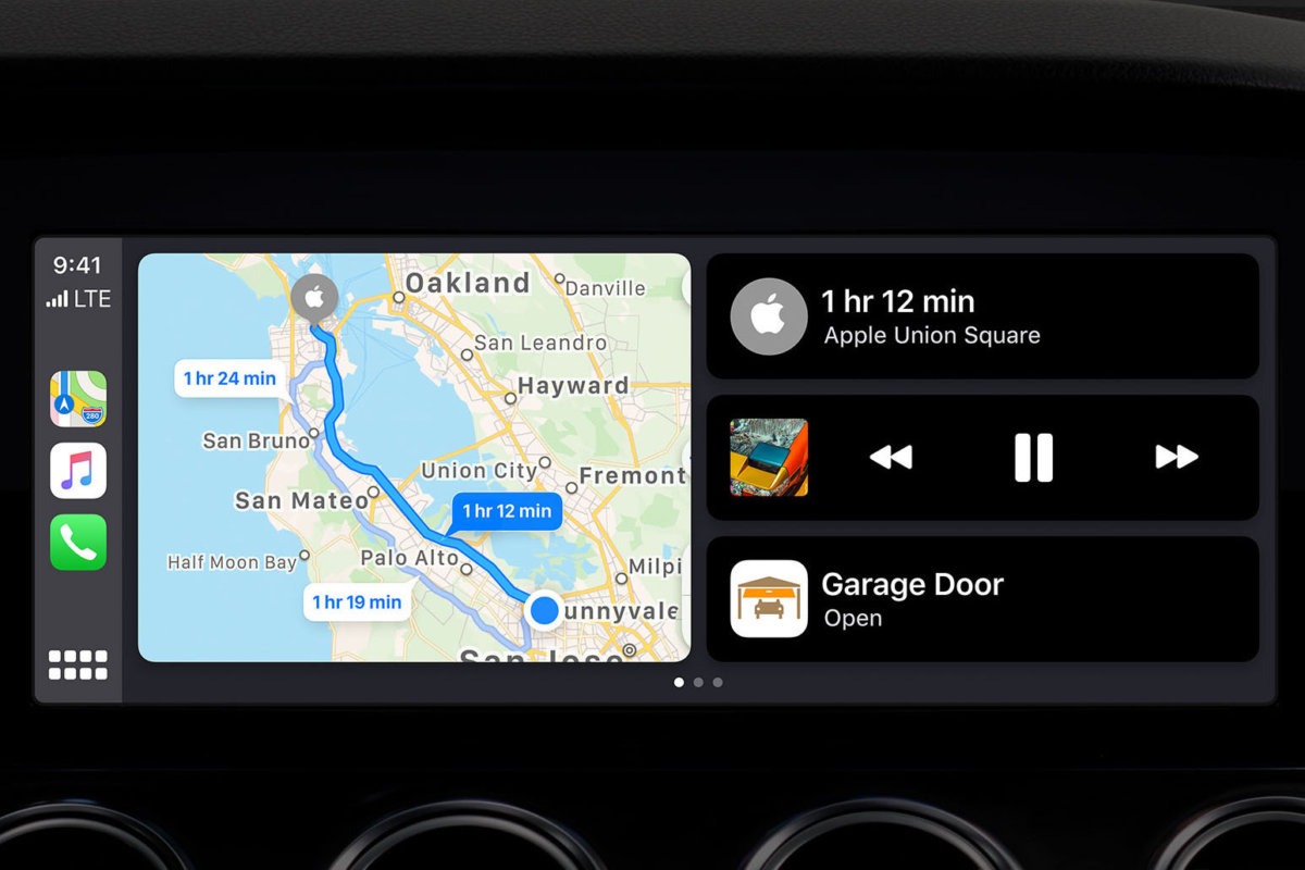 Nowe Apple Car Play iOS13 dashboard