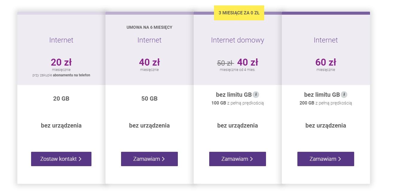 Internet mobilny bez limitu Play