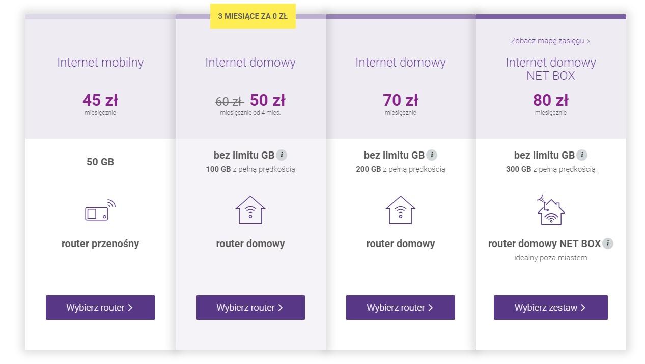 Internet mobilny bez limitu z routerem Play