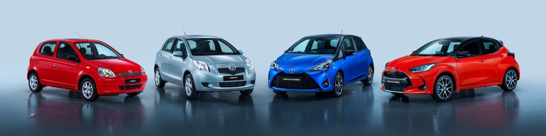 Toyota Yaris - wszystkie generacje