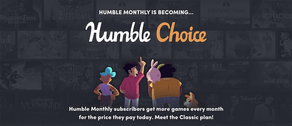 To koniec Humble Monthly, zastąpi go Humble Choice!