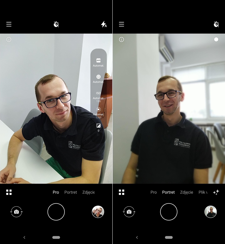 Nokia 7.2 tryb portretowy