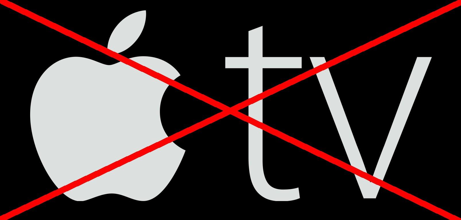 apple tv przekreślone
