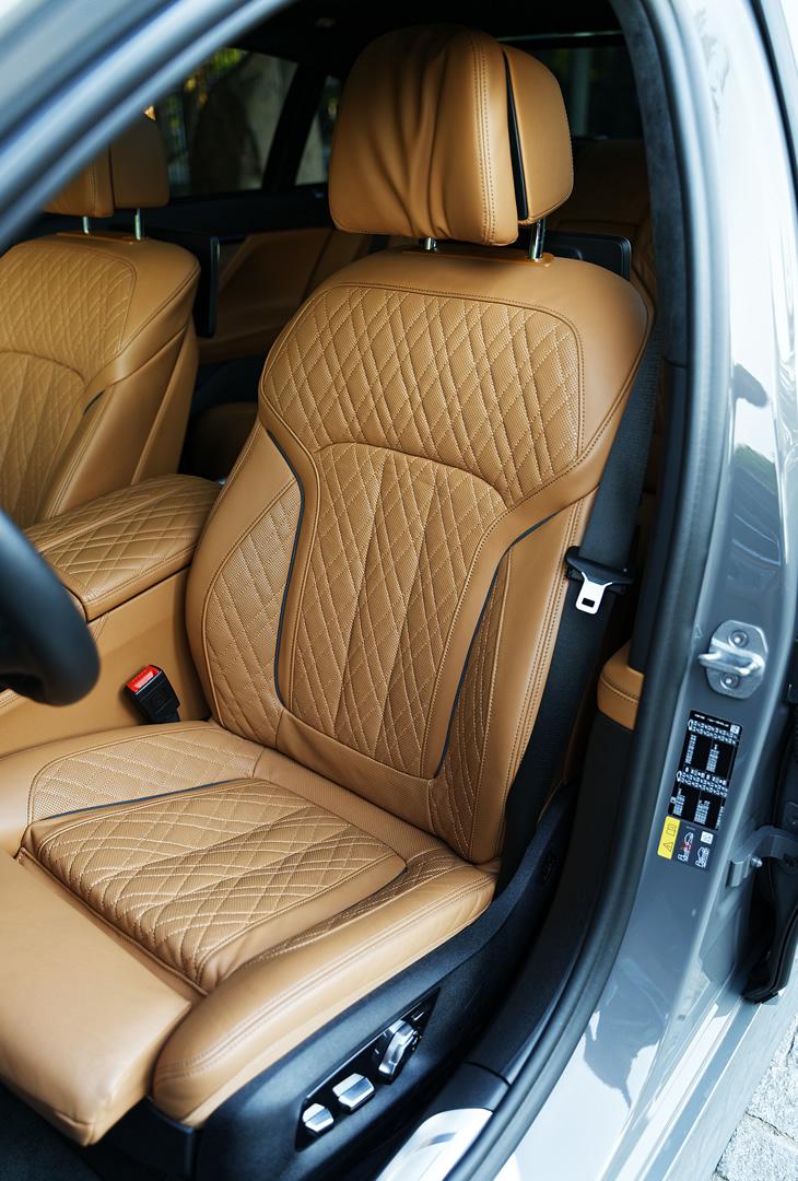 BMW 745Le xDrive Hybryda Plug-In - fotel kierowcy