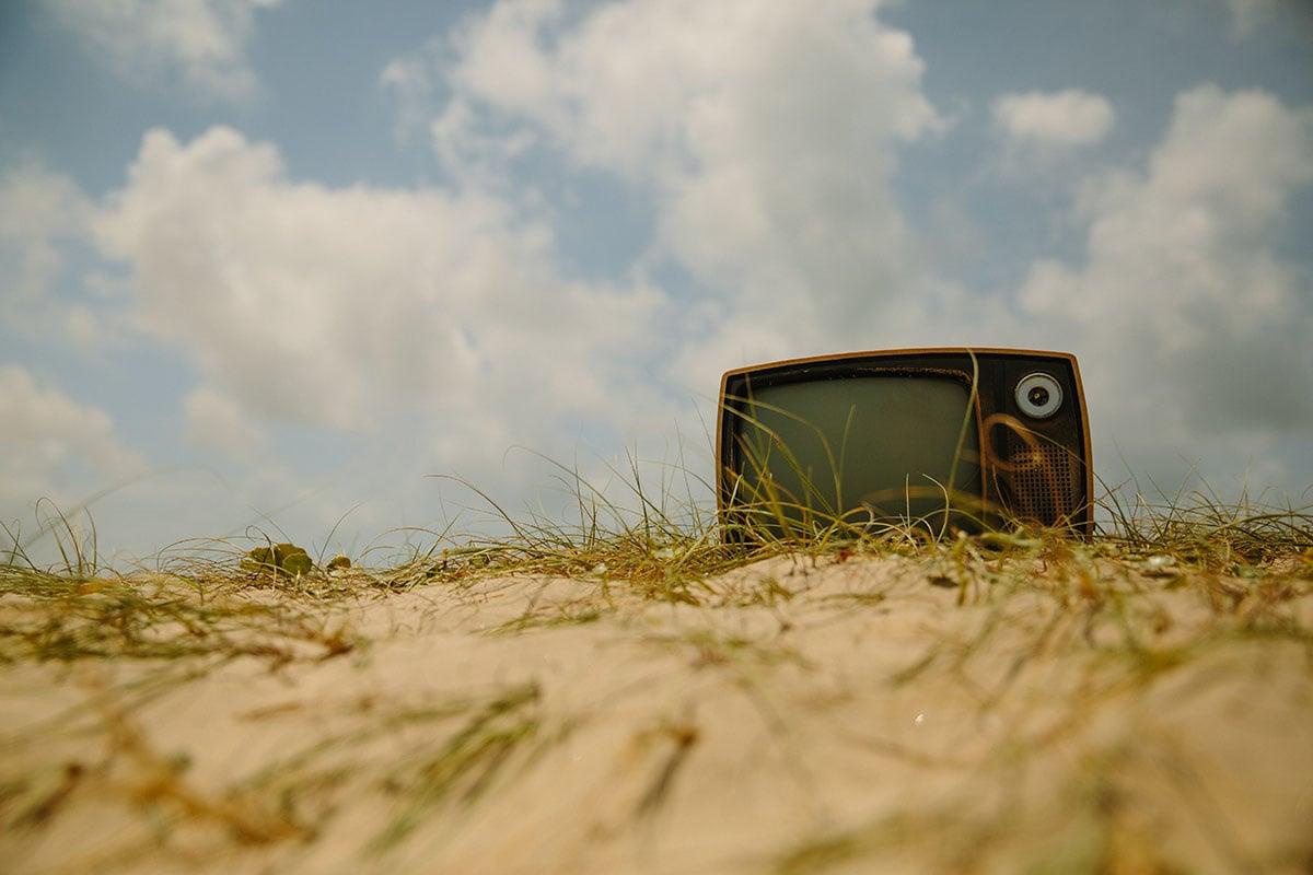 telewizor na ziemi