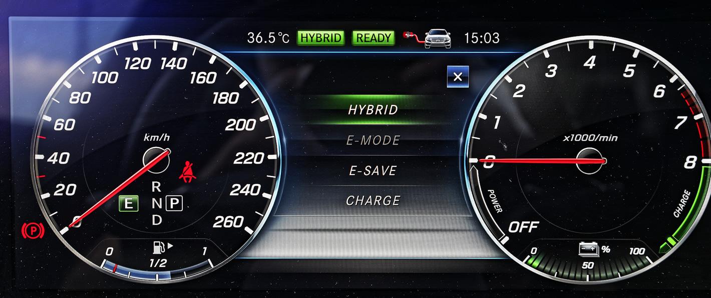 Mercedes-Benz E 350e Hybryda Plug-In - tryby jazdy