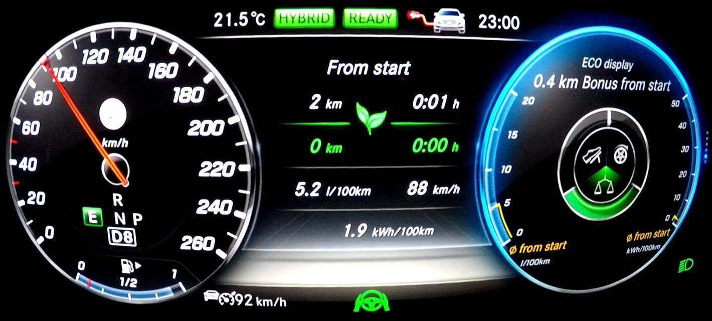 Mercedes-Benz E 350e Hybryda Plug-In - statystyki jazdy