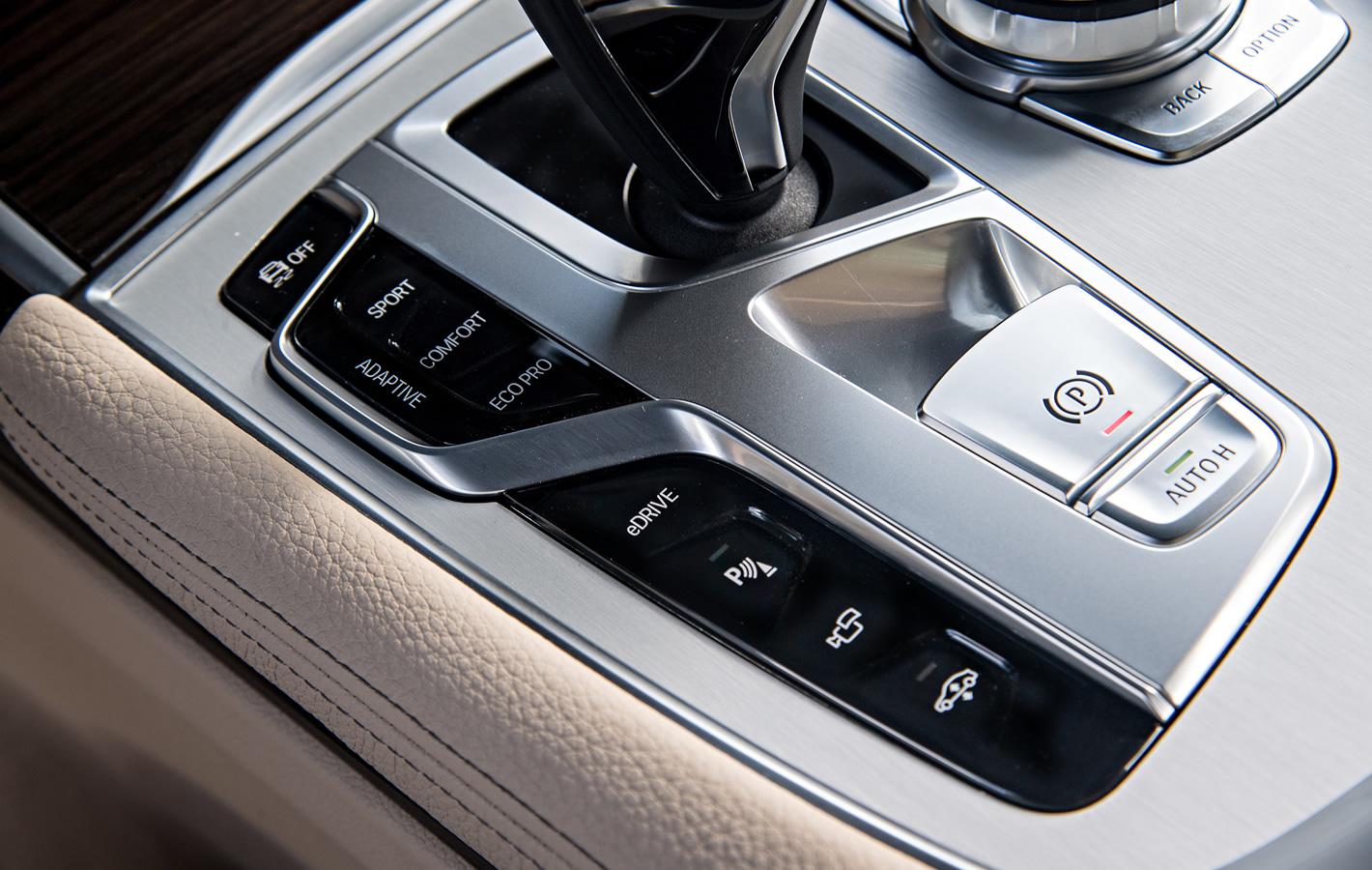 BMW 740e iPerformance Hybryda Plug-In - tryby jazdy