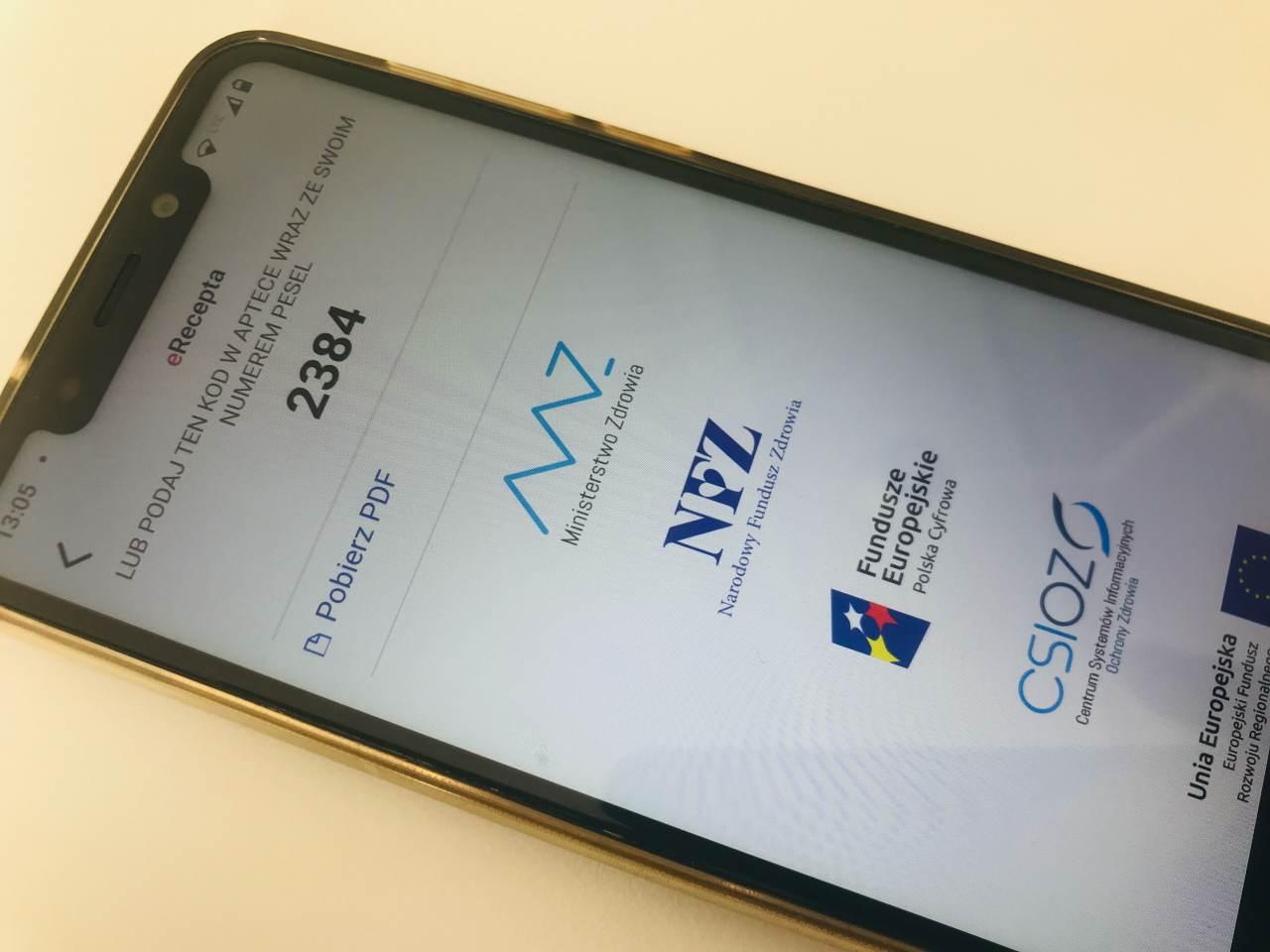 e-recepta smartfon pobieranie