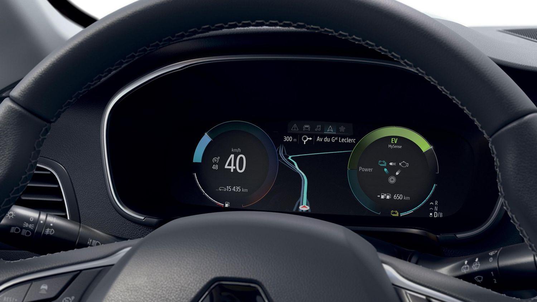 Renault Megane po liftingu - cyfrowe zegary