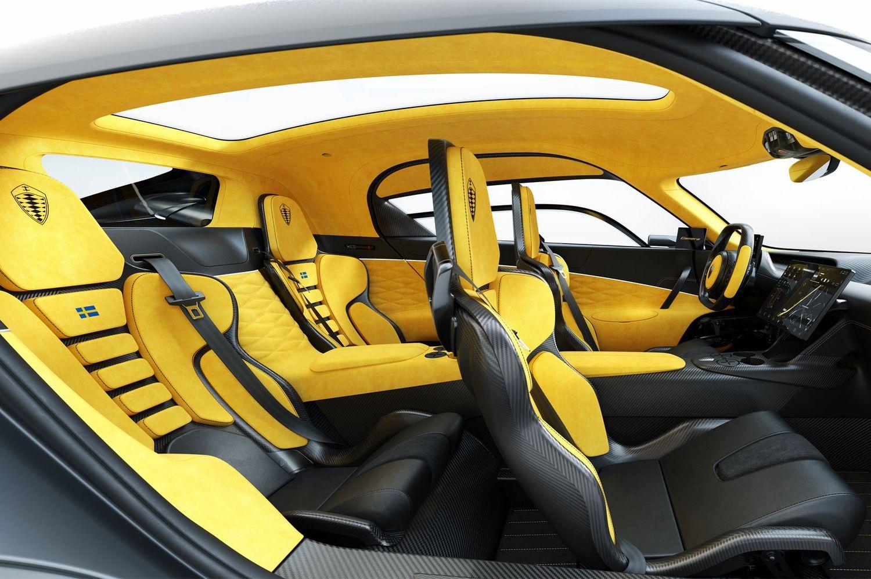 Koenigsegg Gemera wnętrze