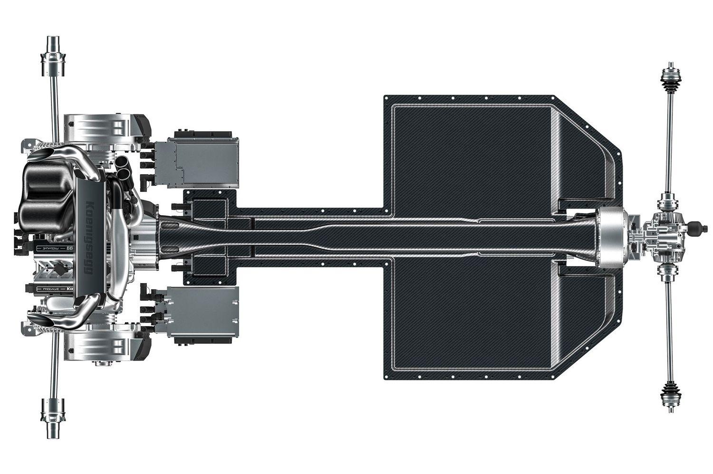 Koenigsegg Gemera układ przeniesienia napędu