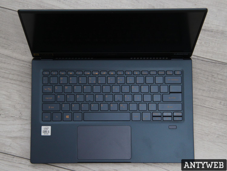 Acer Swift 5 klawiatura i touchpad
