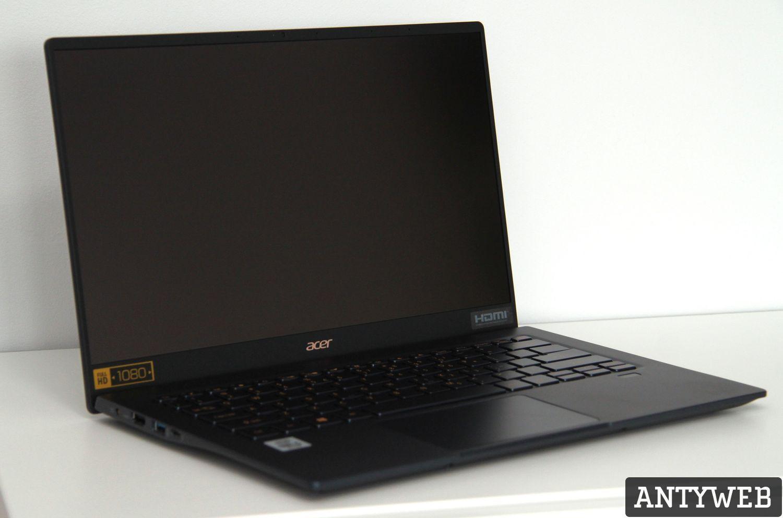 Acer Swift 5 otwarta klapa