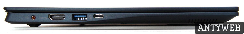 Acer Swift 5 lewa strona porty