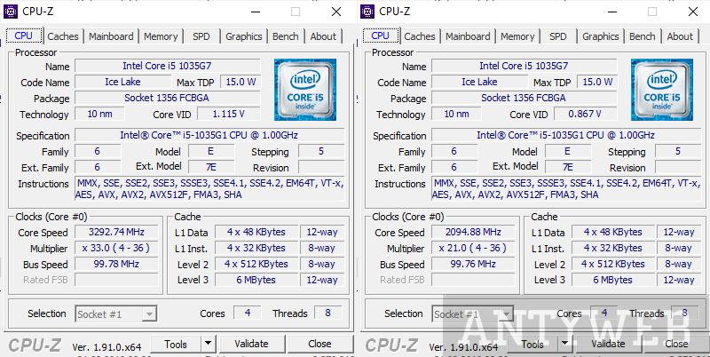 Acer Swift 5 CPU-Z