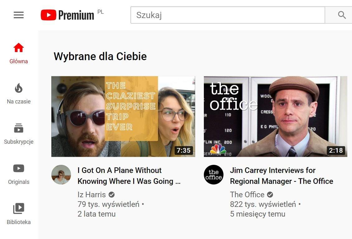 youtube premium screenshot