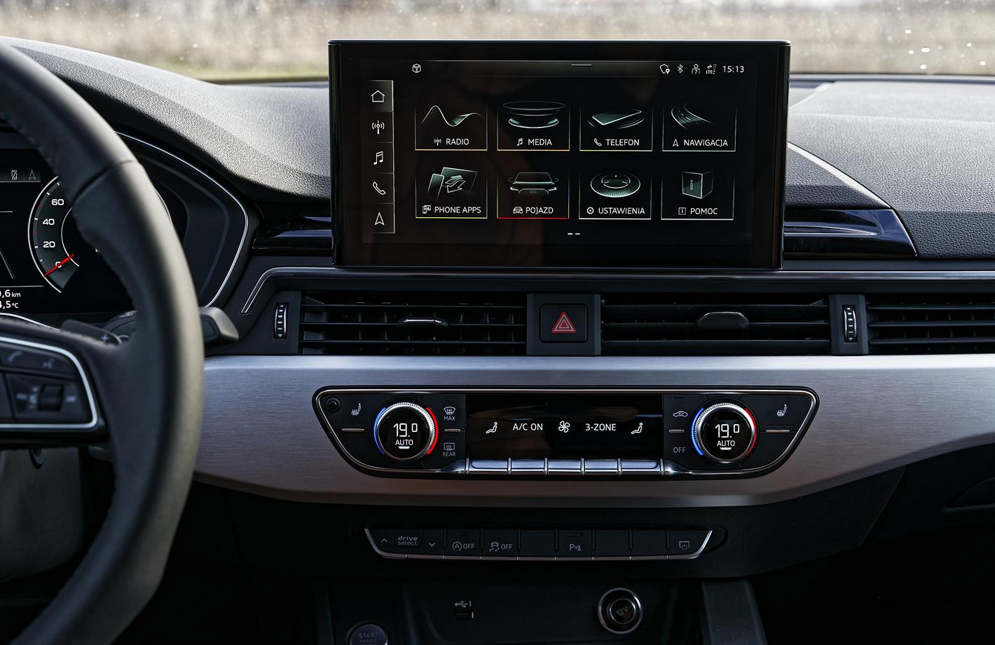 Audi A5 Sportback ekran systemu multimedialnego