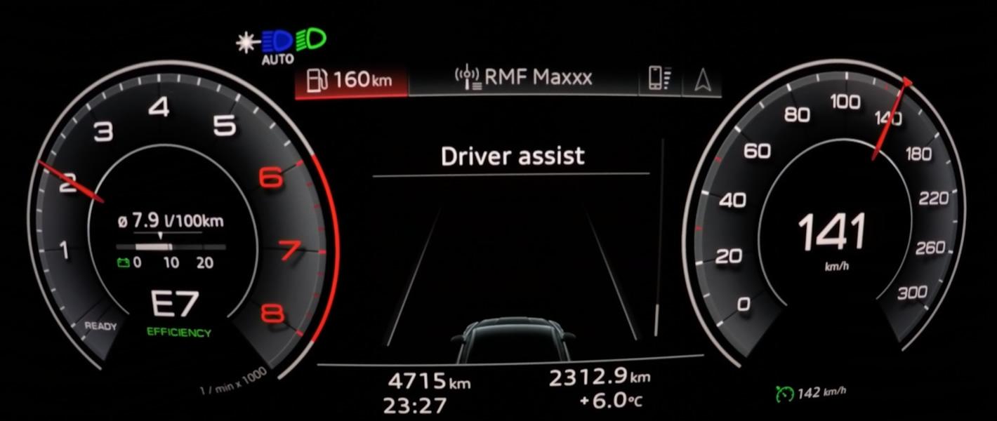 Audi A5 Sportback z Matrix LED i światłem laserowym