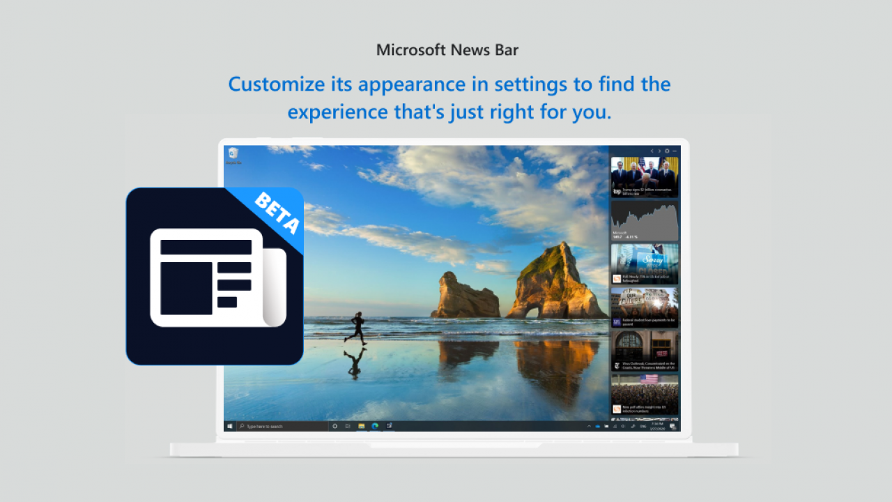 microsoft news bar