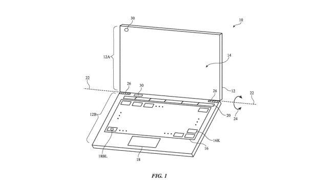 patent truetone macbook klawisze