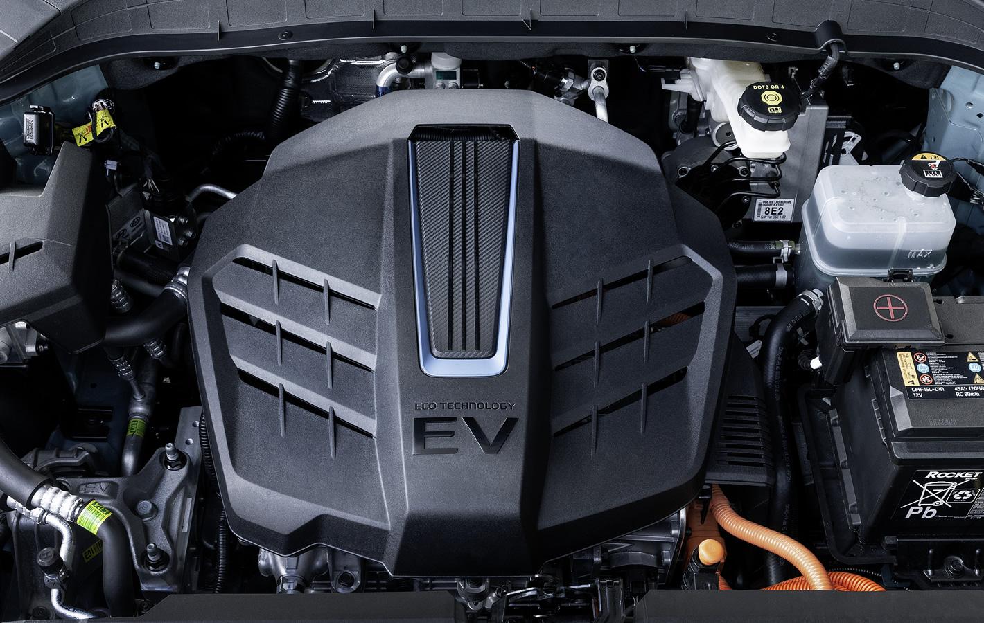 Hyundai Kona Electric - po otwarciu maski