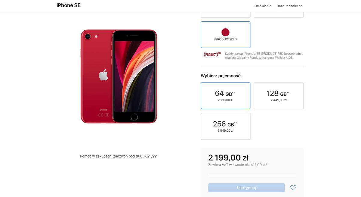 iphone se 2020 polskie ceny