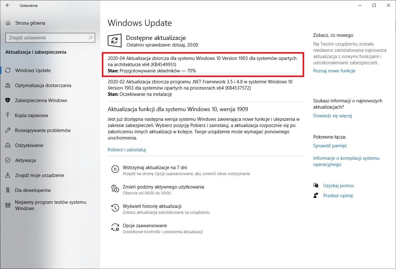 Windows 10 patch Tuesday April 2020