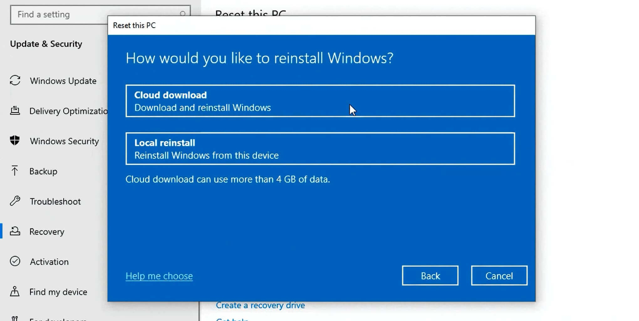 Windows 10 2004 Cloud download
