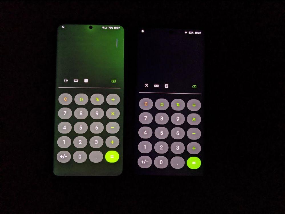 galaxy s20 ultra zielony ekran