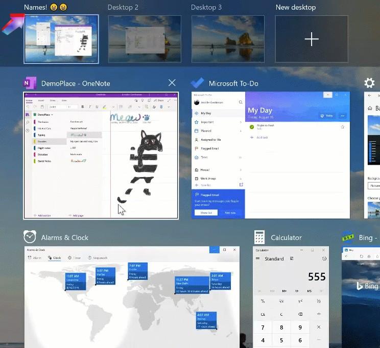 Windows 10 2004 wirtualne pulpity