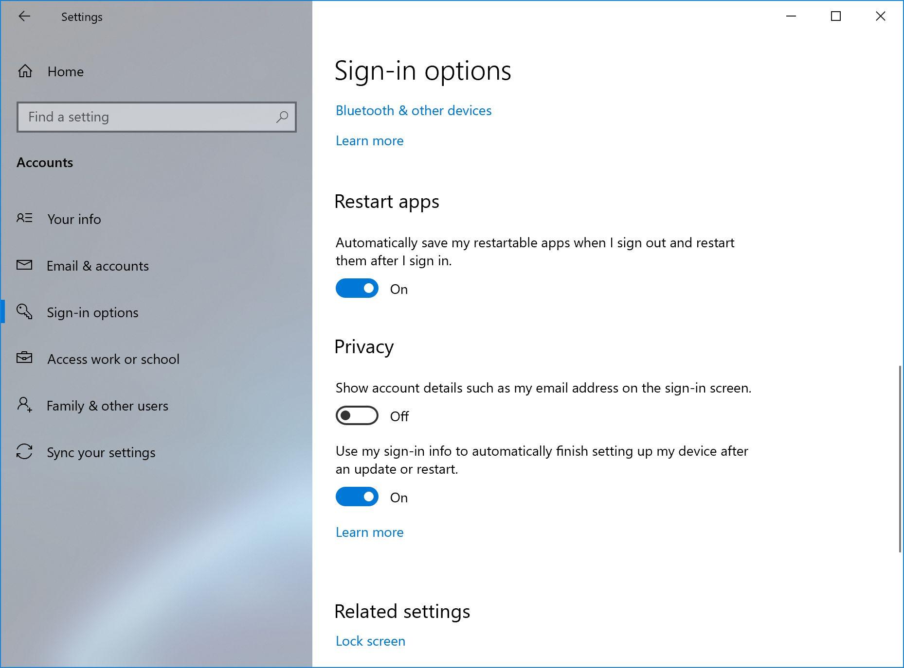 Windows 10 2004 restartowanie aplikacji