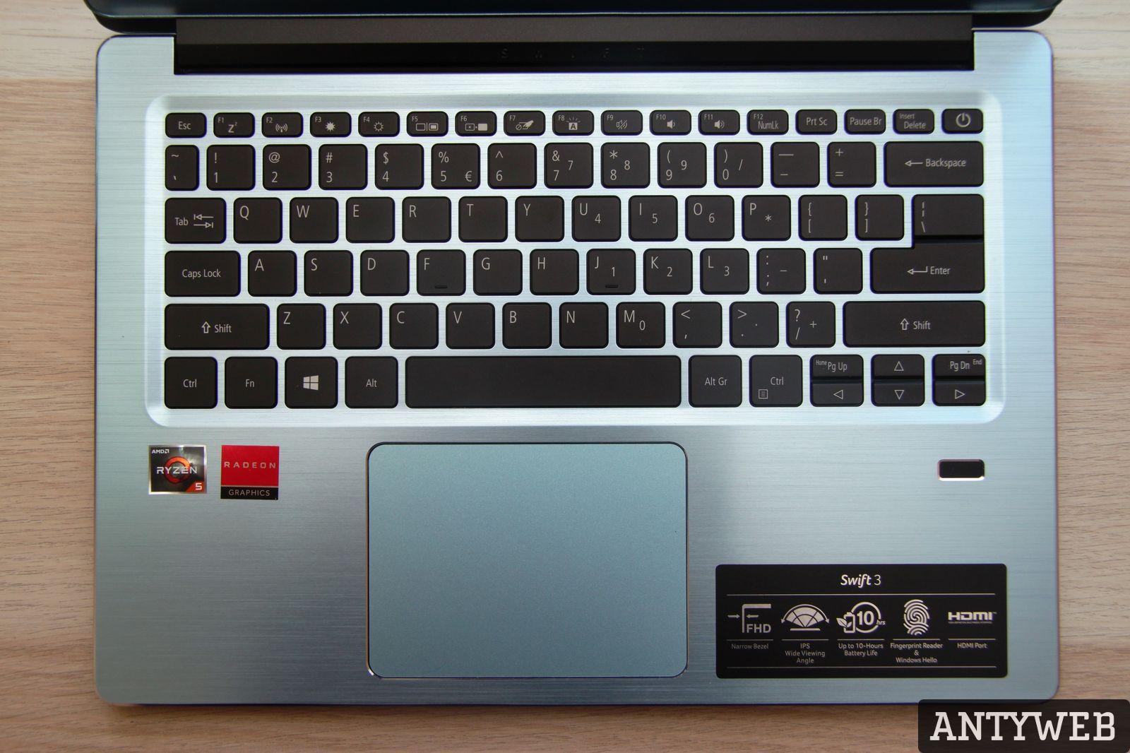 Acer Swift 3 klawiatura