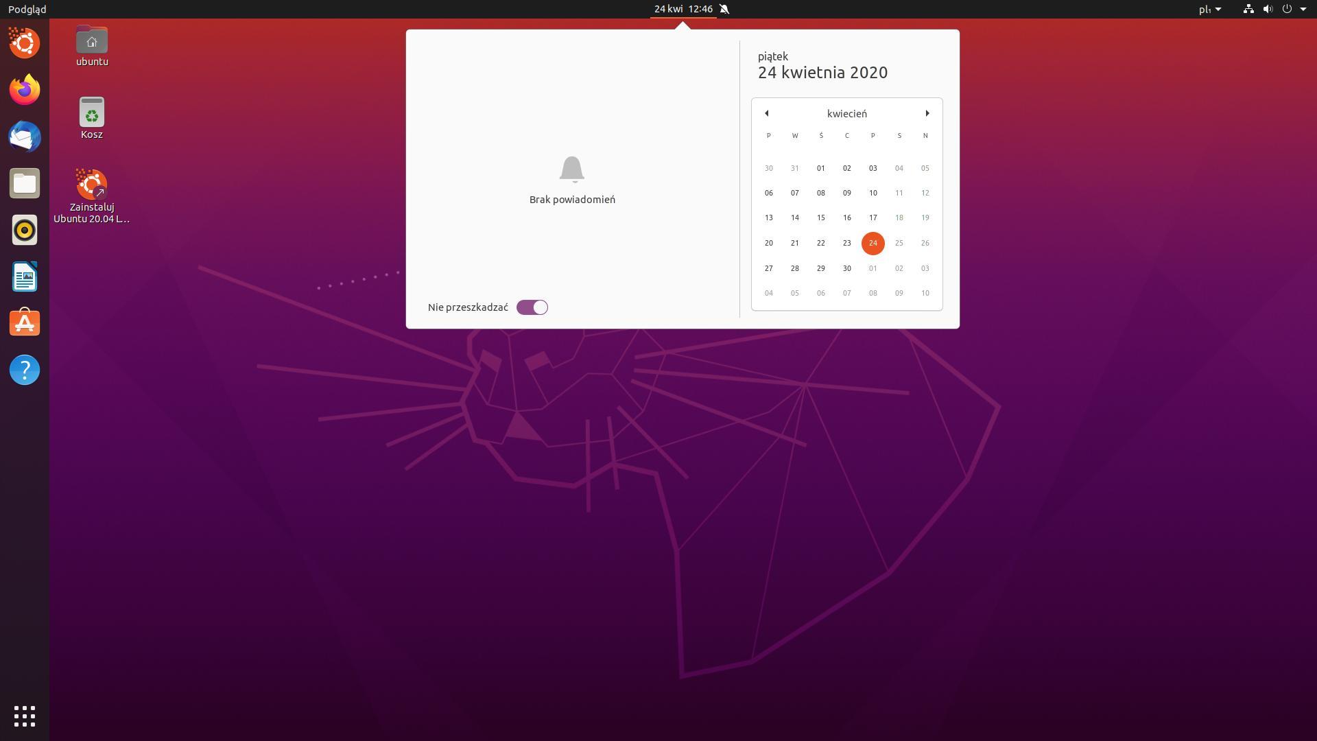 ubuntu powiadomienia